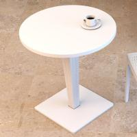 Riva Wickerlook Resin Round Dining Table White 28 inch. ISP882-WH - 3