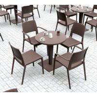 Riva Wickerlook Resin Round Dining Table Brown 28 inch. ISP882-BR - 2