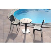Riva Wickerlook Resin Round Dining Table Brown 28 inch. ISP882-BR - 11