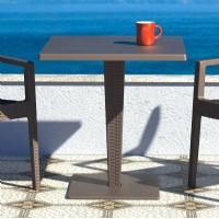 Riva Wickerlook Resin Square Dining Table Brown 28 inch. ISP884-BR - 3