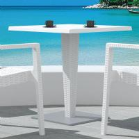 Riva Wickerlook Resin Square Dining Table White 28 inch. ISP884-WH - 3