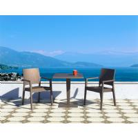 Riva Wickerlook Resin Square Dining Table Brown 28 inch. ISP884-BR - 4