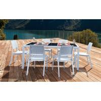 Miami Wickerlook Rectangle Dining Set 7 Piece White ISP997S-WH - 6