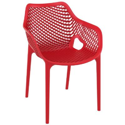 Air XL Resin Outdoor Arm Chair Red ISP007-RED