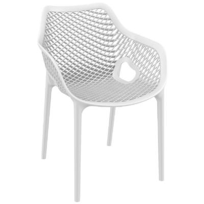 Air XL Resin Outdoor Arm Chair White ISP007-WHI