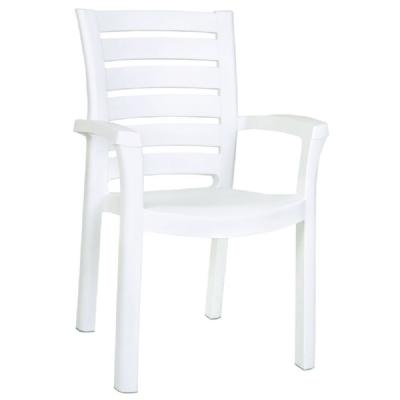 Marina Resin Dining Arm Chair White ISP016-WHI