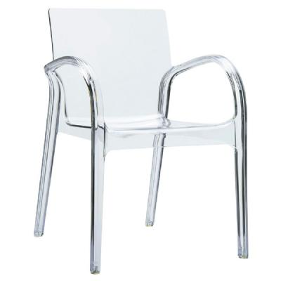 Dejavu Polycarbonate Arm Chair Transparent ISP032-TCL