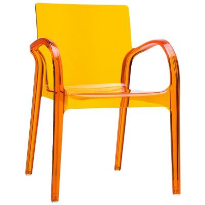 Dejavu Polycarbonate Arm Chair Transparent Orange ISP032-TORA