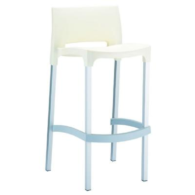 Gio Resin Outdoor Barstool Beige ISP035-BEI