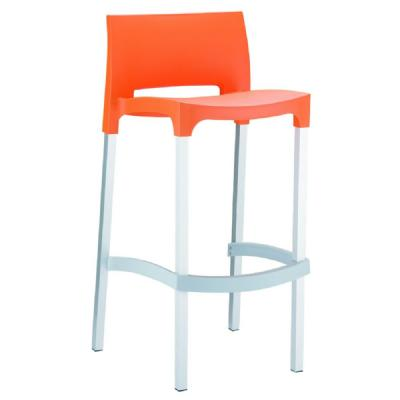Gio Resin Outdoor Barstool Orange ISP035-ORA
