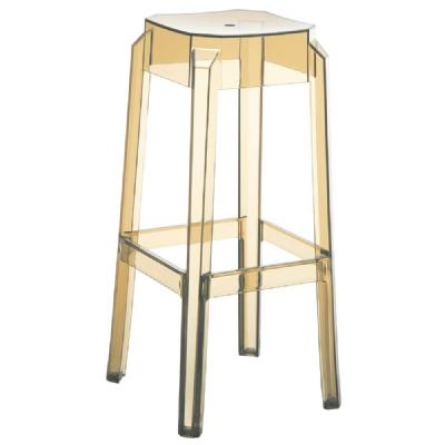 Fox Polycarbonate Barstool Transparent Amber ISP037-TAMB