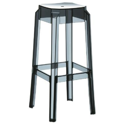 Fox Polycarbonate Barstool Transparent Black ISP037-TBLA