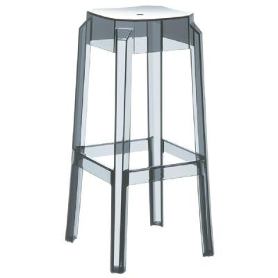 Fox Polycarbonate Barstool Transparent Gray ISP037-TGRY