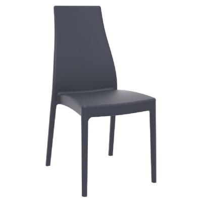 Miranda High-Back Dining Chair Dark Gray ISP039-DGR