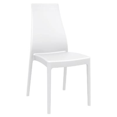 Miranda High Back Dining Chair White Isp039 Whi