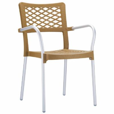 Bella Dining Arm Chair Teak ISP040-TEA