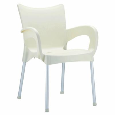 Romeo Resin Dining Arm Chair Beige ISP043-BEI