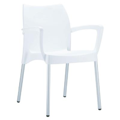 Dolce Resin Outdoor Armchair White ISP047-WHI