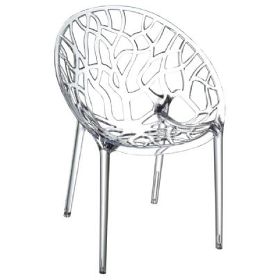Crystal Polycarbonate Modern Dining Chair Transparent ISP052-TCL