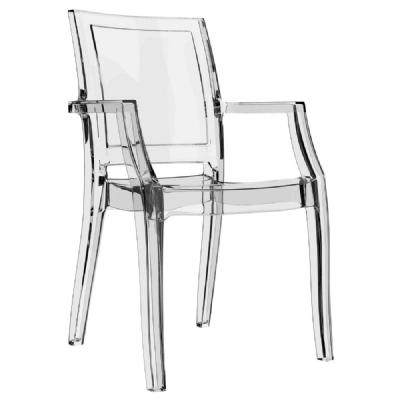 Arthur Polycarbonate Arm Chair Clear ISP053-TCL