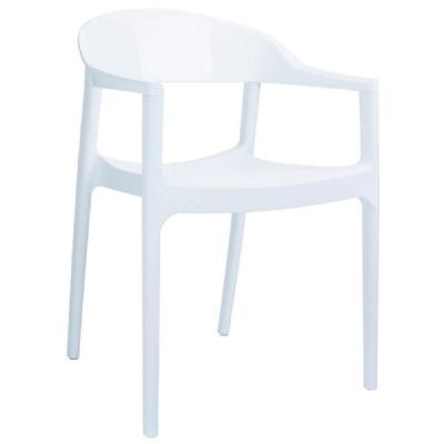Carmen Chair Glossy/White ISP059-WHI-GWHI