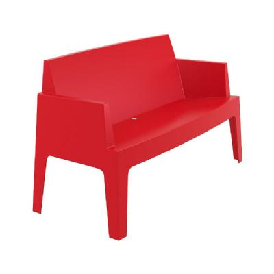 Box Outdoor Bench Sofa Red ISP063-RED