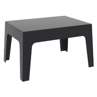 Box Resin Outdoor Coffee Table Black ISP064-BLA