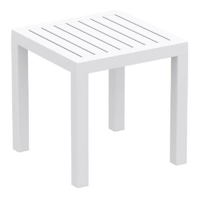 Ocean Square Side Table White ISP066-WHI