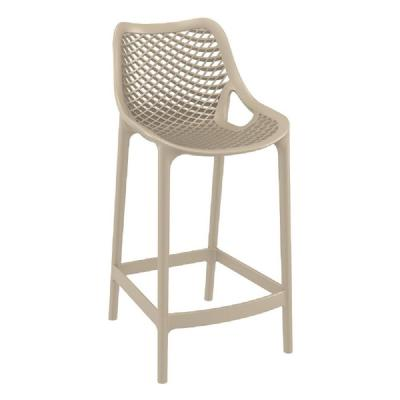 Air Resin Outdoor Counter Chair Taupe ISP067-DVR