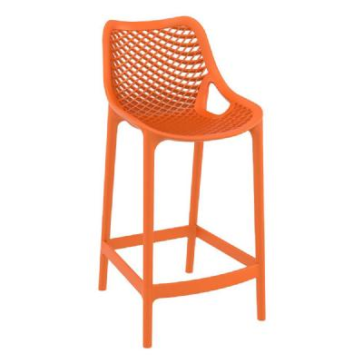 Air Resin Outdoor Counter Chair Orange ISP067-ORA