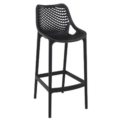 Air Resin Outdoor Bar Chair Black ISP068-BLA