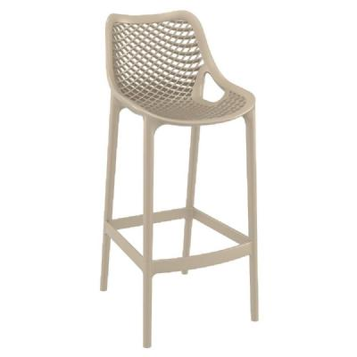 Air Resin Outdoor Bar Chair Taupe ISP068-DVR