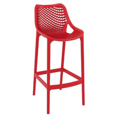 Air Resin Outdoor Bar Chair Red ISP068-RED