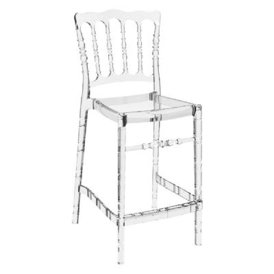 Opera Polycarbonate Counter Stool Transparent Clear ISP074-TCL