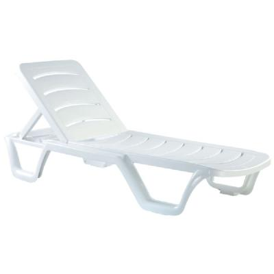 Bahama Sunlight Pool Chaise Lounge ISP077-WHI