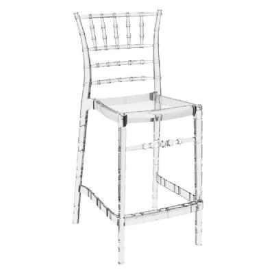 Chiavari Polycarbonate Counter Stool Transparent Clear ISP084-TCL
