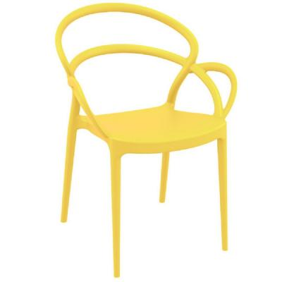 Mila Dining Arm Chair Yellow ISP085-YEL