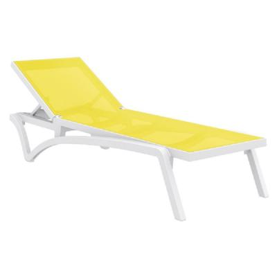 Pacific Sling Chaise Lounge White - Yellow ISP089-WHI-SYE