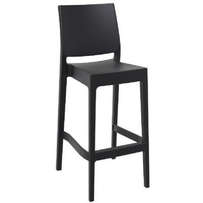 Maya Resin Outdoor Barstool Black ISP099-BLA
