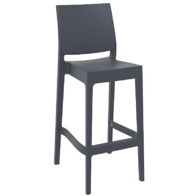 Maya Resin Outdoor Barstool Dark Gray ISP099-DGR