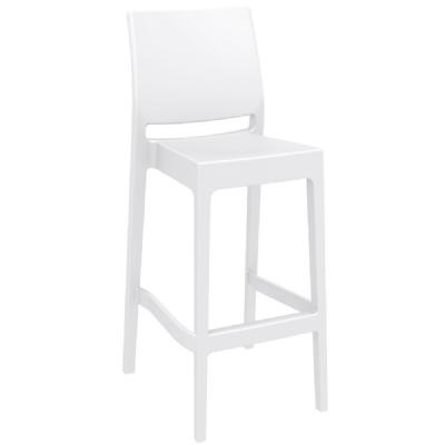 Maya Resin Outdoor Barstool White ISP099-WHI