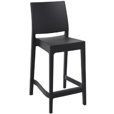 Maya Resin Outdoor Counter Stool Black ISP100-BLA