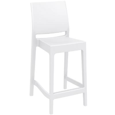 Maya Resin Outdoor Counter Stool White ISP100-WHI