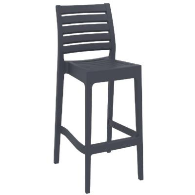 Ares Resin Outdoor Barstool Dark Gray ISP101-DGR