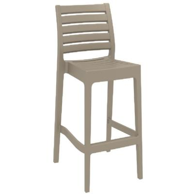 Ares Resin Outdoor Barstool Taupe ISP101-DVR