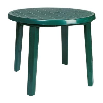 Sunny Resin Round Dining Table 35 inch Green ISP125-GRE