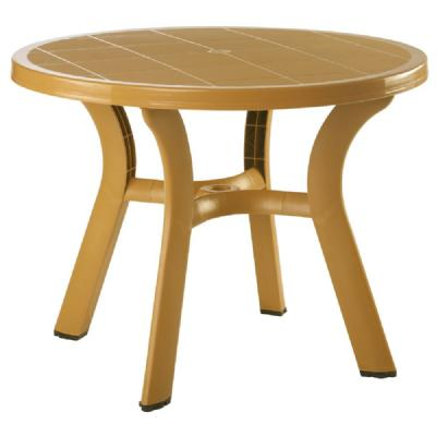 Truva Resin Round Dining Table 42 inch - Cafe Latte ISP146-TEA