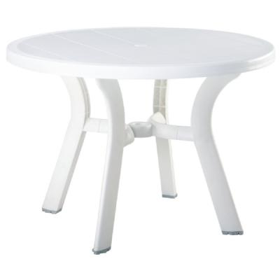 Truva Resin Round Dining Table 42 inch ISP146-WHI