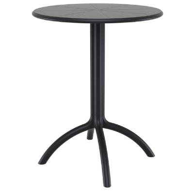Octopus Outdoor Dining Table 24 inch Round Black ISP160-BLA