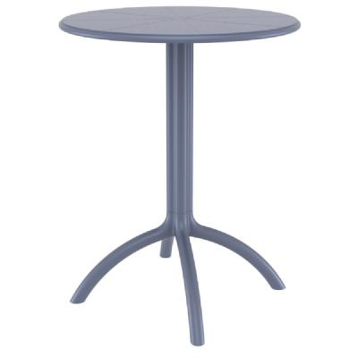 Octopus Outdoor Dining Table 24 inch Round Dark Gray ISP160-DGR